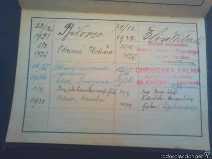 Militaria: Cartilla de trabajo de Moravia año 1930 con varios años de sello - Foto 4 - 56984305