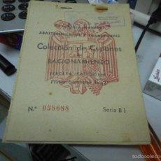Militaria: COLECCION CUPONES RACIONAMIENTO GUERRA CIVIL. Lote 62674723