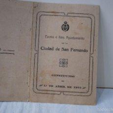 Militaria: AYUNTAMIENTO DE SAN FERNANDO 1922, CADIZ.. Lote 57033310