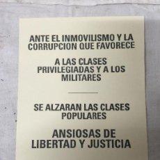 Militaria: OCTAVILLA POLITICA DE LA REPUBLICA, MEDIDAS 21 X 14 CM.. Lote 263179460