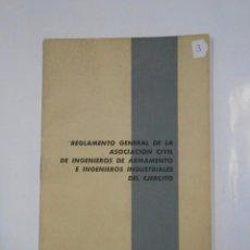 Militaria: ESTATUTOS DE LA ASOCIACION CIVIL DE INGENIEROS DE ARMAMENTO E INDUSTRIALES DEL EJERCITO. 1967 TDKP11. Lote 57057197