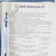Militaria: HOJAS DE ÓRDENES DIARIAS DE SERVICIO MILITAR EN BARCELONA, AÑO 1934 - CUERPO ARTILLERÍA / MILI. Lote 57102082