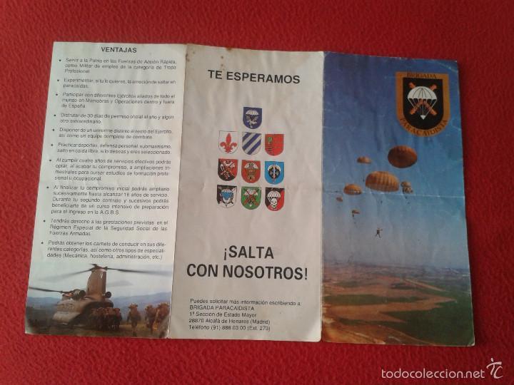 Militaria: FOLLETO TRIPTICO MILITAR BRIGADA PARACAIDISTA EJERCITO ESPAÑOL. SOLDADOS VER FOTO/S Y DESCRIPCION - Foto 3 - 57102260