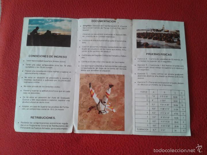 Militaria: FOLLETO TRIPTICO MILITAR BRIGADA PARACAIDISTA EJERCITO ESPAÑOL. SOLDADOS VER FOTO/S Y DESCRIPCION - Foto 4 - 57102260