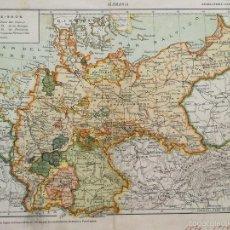 Militaria: ALEMANIA 1870 1914, MAPA MILITAR. Lote 57189446