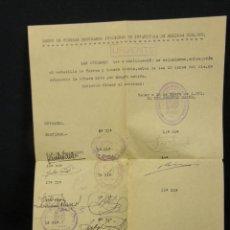 Militaria: MELILLA REGULARES INDIGENAS Nº 2 MELILLA NADOR ESTADILLO FUERZA SELLOS TAMPONES 1951. Lote 57342311
