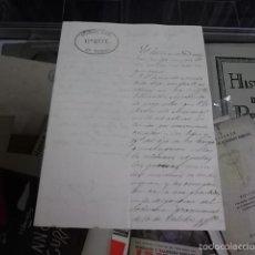 Militaria: 336.-GUARDIA CIVIL-1ER JEFE 7º TERCIO-NOTIFICACION FECHADA EN ZARAGOZA AÑO 1868. Lote 57347174