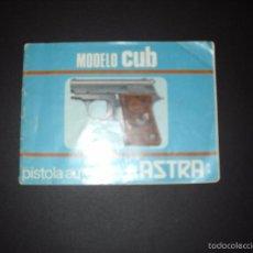 Militaria: MANUAL DE MODELO CUB,PISTOLA AUTOMÁTICA ASTRA.. Lote 57411982