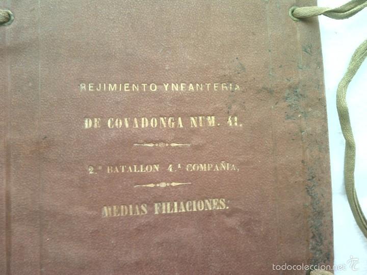 Militaria: GENUINA Y RARA CARPETA DEL REJIMIENTO DE YNFANTERIA DE COVADONGA NUM 41 SEGUNDA MITAD DEL XVIII G6 - Foto 2 - 57431257