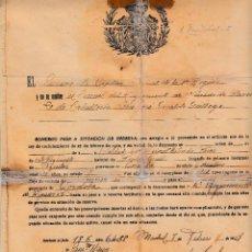 Militaria: 1927. DOCUMENTO PASE RESERVA REGIMIENTO CABALLERIA HUSARES PAVIA 20. SOLDADO PUENTE GENIL (CORDOBA). Lote 57475478