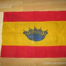 Militaria: ANTIGUA BANDERA ESPAÑOLA - 51 X 32 CM.. Lote 57549686