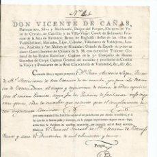 Militaria: 1809 - GUERRA DE LA INDEPENDENCIA - 2 PASAPORTE S - CACERES - GALICIA - EXTREMADURA - CASTILLA. Lote 57662056