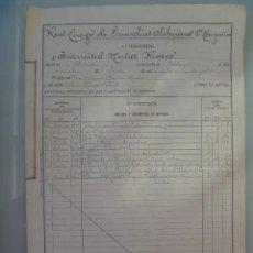 Militaria: REAL CUERPO DE GUARDIAS DE ALABARDEROS : HOJA DE SERVICIO DE TENIENTE , SIGLO XIX-XX , 1909. Lote 57678050