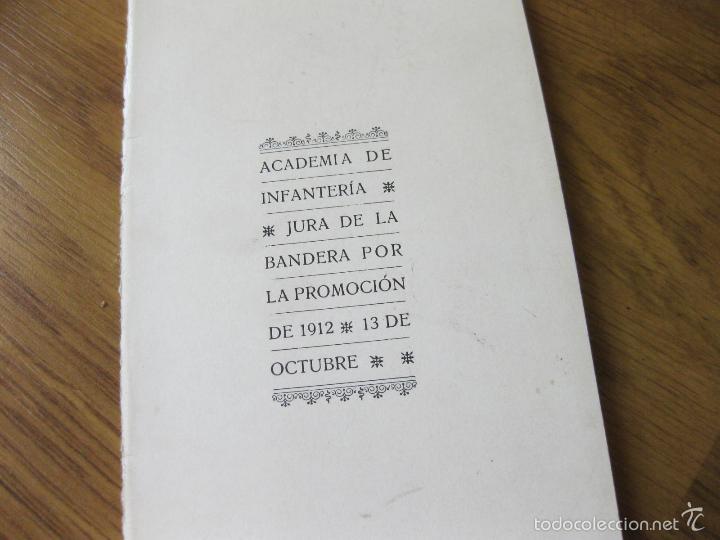 Militaria: CANTO A LA BANDERA E HIMNO DE LA ACADEMIA DE INFANTERIA DE TOLEDO PARA LA JURA DE BANDERA DE 1912 - Foto 3 - 57929642