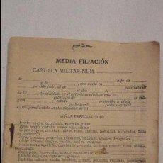 Militaria: ANTIGUA CARTILLA MILITAR.SEVILLA.1932. Lote 57960125