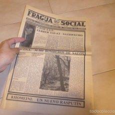 Militaria: LOTE REVISTA FRAGUA SOCIAL, PANFLETO, OCTAVILLA D TRANSICION POLITICA. CNT PAIS VALENCIA, ANARQUISTA. Lote 57973912