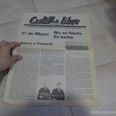Militaria: LOTE REVISTA CASTILLA LIBRE, PANFLETO, OCTAVILLA DE TRANSICION POLITICA. CNT, ANARQUISTA. Lote 57974152
