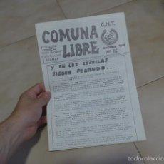 Militaria: LOTE REVISTA COMUNA LIBRE, PANFLETO, OCTAVILLA DE TRANSICION POLITICA. CNT MADRID, ANARQUISTA. Lote 58487629
