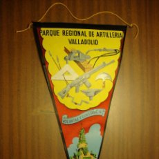 Militaria: ANTIGUO BANDERIN DEL PARQUE REGIONAL DE ARTILLERIA DE VALLADOLID. Lote 58123575