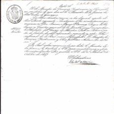 Militaria: CIRCULAR DE NOMBRAMIENTO DE PRESIDENTE DEL CONSEJO DE MINISTROS DE D. RAMÓN MARIA NARVAEZ. VALENCIA. Lote 58126673