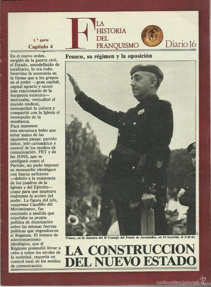 Militaria: HISTORIA DEL FRANQUISMO 1ª PARTE COMPLETA 26 CAPITULOS PARA ENCUADERNAR CON TAPAS DEL DIARIO 16 VER - Foto 3 - 58273875