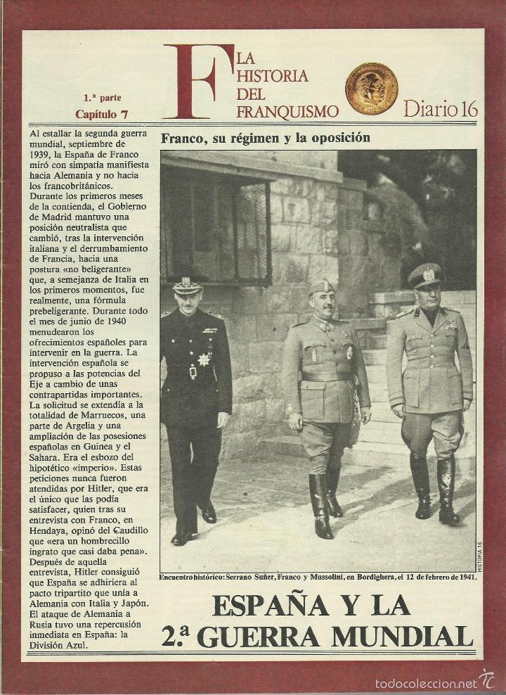 Militaria: HISTORIA DEL FRANQUISMO 1ª PARTE COMPLETA 26 CAPITULOS PARA ENCUADERNAR CON TAPAS DEL DIARIO 16 VER - Foto 4 - 58273875