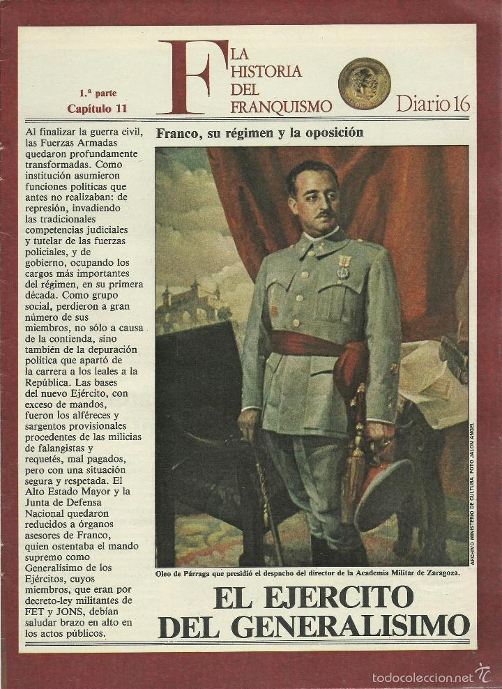 Militaria: HISTORIA DEL FRANQUISMO 1ª PARTE COMPLETA 26 CAPITULOS PARA ENCUADERNAR CON TAPAS DEL DIARIO 16 VER - Foto 6 - 58273875