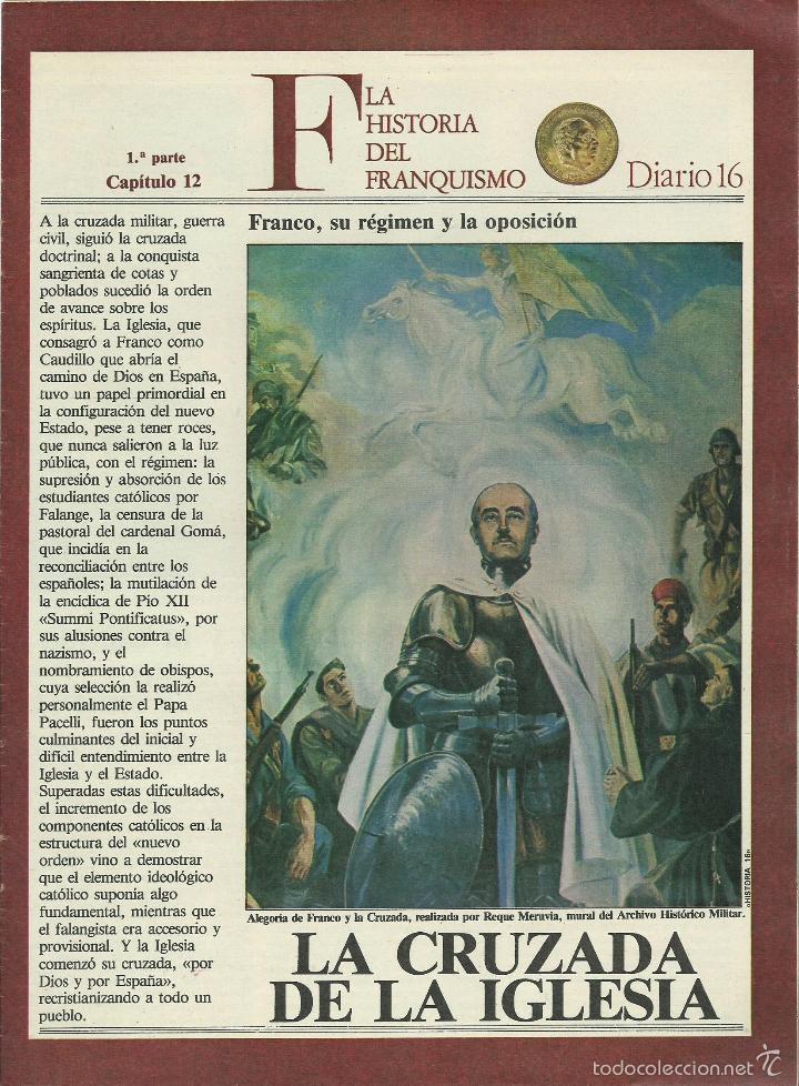 Militaria: HISTORIA DEL FRANQUISMO 1ª PARTE COMPLETA 26 CAPITULOS PARA ENCUADERNAR CON TAPAS DEL DIARIO 16 VER - Foto 7 - 58273875