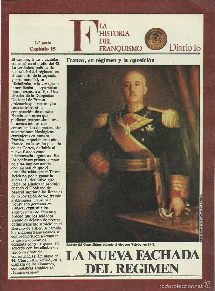 Militaria: HISTORIA DEL FRANQUISMO 1ª PARTE COMPLETA 26 CAPITULOS PARA ENCUADERNAR CON TAPAS DEL DIARIO 16 VER - Foto 8 - 58273875