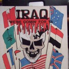 Militaria: DIBUJO ESTANDARTE - USA 6ª FLOTA - ROTULADOR CARTON - IRAQ WE'RE COMIN' FOR YA - SARATOGA CV-60. Lote 58466223