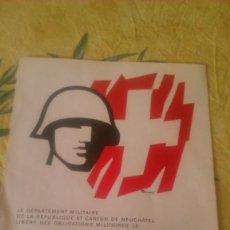 Militaria: DOCUMENTO DE LIBERACIÓN DE OBLIGACIONES MILITARES DE SOLDADO,SUIZA 1970. Lote 58644319