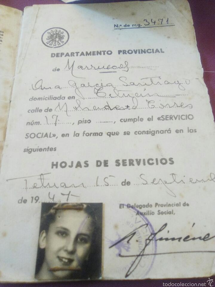Militaria: LOTE SERVICIO SOCIAL FALANGE - Foto 2 - 58813681