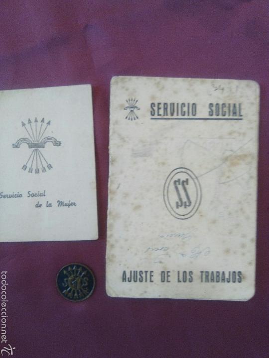 Militaria: LOTE SERVICIO SOCIAL FALANGE - Foto 5 - 58813681