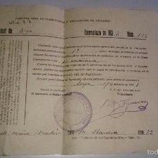 Militaria: PAPELETA PARA LA CLASIFICACIÓN Y DECLARACIÓN DE SOLDADOS. AÑO 1933. ÉCIJA. Lote 58883431