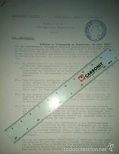 Militaria: COLECCION DE CIRCULARES DE FRENTES Y HOSPITALES 1938-39 ENVIADAS DE BILBAO A ALICANTE CARLISMO - Foto 2 - 58890076