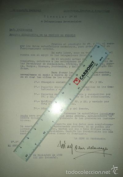 Militaria: COLECCION DE CIRCULARES DE FRENTES Y HOSPITALES 1938-39 ENVIADAS DE BILBAO A ALICANTE CARLISMO - Foto 5 - 58890076