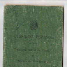 Militaria: CARTILLA MILITAR DE TROPA. SERVICIOS AUXILIARES SEVILLA 69. Lote 58952360