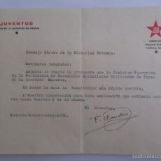 Militaria: JSU - JUVENTUD DIARIO DE LA JUVENTUD EN ARMAS, EDITORIAL ESTAMPA, FIRMADO DIRECTOR F. CLAUDIN. Lote 60061947