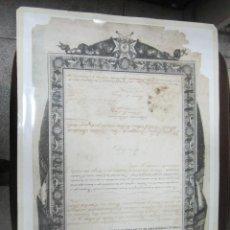 Militaria: TITULO DE COMENDADOR DE CARLOS III A FRANCISCO DE PAULA COSTAS Y BARCELO. 1868. LEER. Lote 60824387