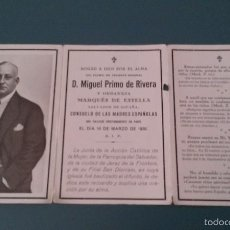 Militaria: RECORDATORIO MIGUEL PRIMO DE RIVERA Y ORBANEJA. Lote 61151787