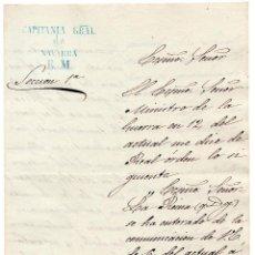 Militaria: OFICIO COMUNICACIÓN, LA REINA AGRADECE LA APORTACIÓN DE UN MES DE SUELDO A LA GUERRA DE ÁFRICA 1859. Lote 61219951