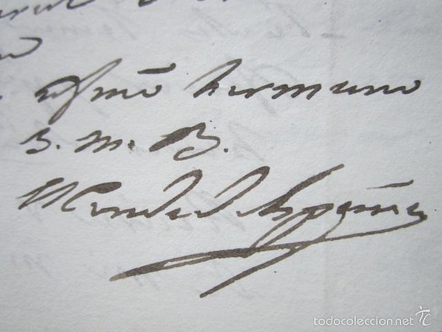 BARCELONA, AÑO 1829. CARTA Y FIRMA MANUSCRITA DEL CONDE DE ESPAÑA. (Militar - Propaganda y Documentos)