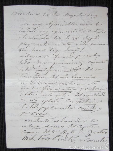 Militaria: BARCELONA, AÑO 1829. CARTA Y FIRMA MANUSCRITA DEL CONDE DE ESPAÑA. - Foto 2 - 61323703