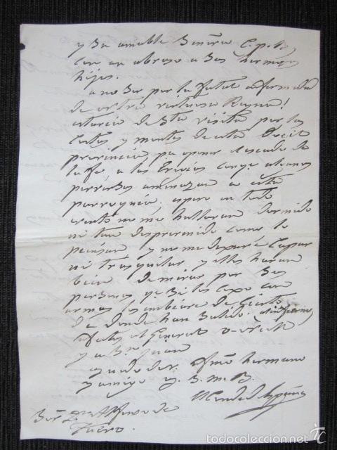 Militaria: BARCELONA, AÑO 1829. CARTA Y FIRMA MANUSCRITA DEL CONDE DE ESPAÑA. - Foto 4 - 61323703