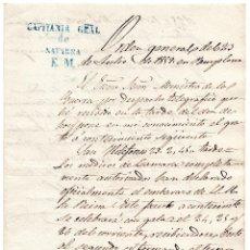Militaria: OFICIO - LOS MEDICOS DE CAMARA COMPLETAMENTE AUTORIZADOS DECLARAN EL EMBARAZO DE LA REINA, ISABEL II. Lote 61638800