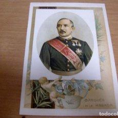 Militaria: MARQUES DE LA HABANA - HISPANO ARGENTINO . MILITAR CAPITAN GENERAL DE LOS EJERCITOS NACIONALES.-. Lote 61854928