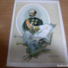 Militaria: LERSUNDI - VALENCIA 1817 , BAYONA 1874 - MILITAR TENIENTE GENERAL , CARLISMO - CROMOLITOGRAFIA: ..... Lote 61855708