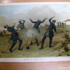 Militaria: MUERTE DEL GENERAL OLLO - NAVARRA - GUERRA CARLISTA - CROMOLITOGRAFIA DEL AÑO 1892 DE: ...... Lote 61861268