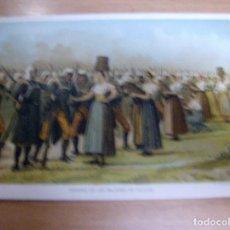 Militaria: CARIDAD DE LAS MUJERES DE SALDIAS - NAVARRA - GUERRA CARLISTA - CROMOLITOGRAFIA DEL AÑO 1892 DE: .... Lote 61861384