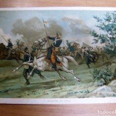 Militaria: ALFONSO XII EN EL DESASTRE EN ERAUL (NAVARRA) GUERRA CARLISTA - CROMOLITOGRAFIA DEL AÑO 1892 DE: .... Lote 61861608